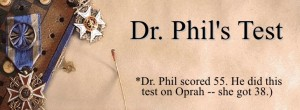 Το μοναδικό τεστ προσωπικότητας του Dr Phil