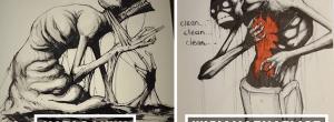 Καλλιτέχνης ζωγραφίζει τις ψυχικές ασθένειες σε ρεαλιστικές απεικονίσεις