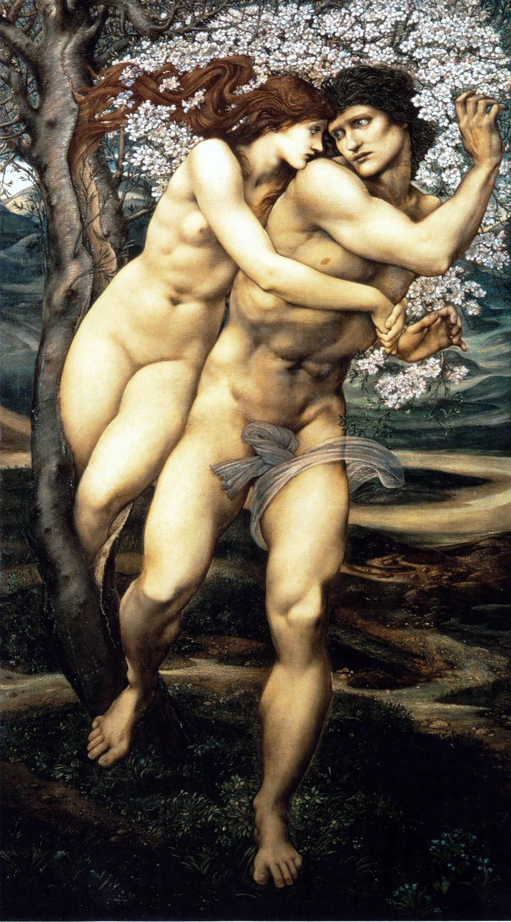 Edward Burne-Jones, The Tree of Forgiveness (1881 - 1882), oil on canvas, 111 x 186 cm. Collection of The Lady Lever Art Gallery, National Museums Liverpool, England