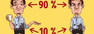 O απλός κανόνας 90/10 που επηρεάζει ολόκληρη την ζωή σας