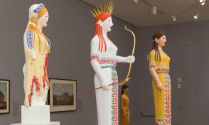 ολύχρωμα αγάλματα της έκθεσης Gods in Color / Φωτογραφία: Legion of Honor Museum / Facebook
